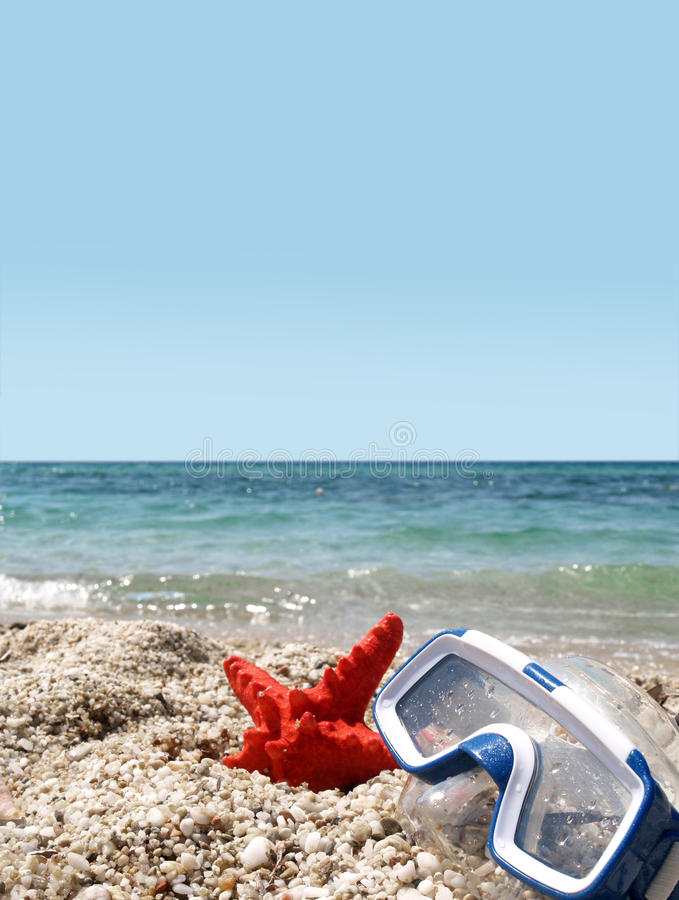 Download Starfish and mask stock image. Image of island, landscape - 26239171
