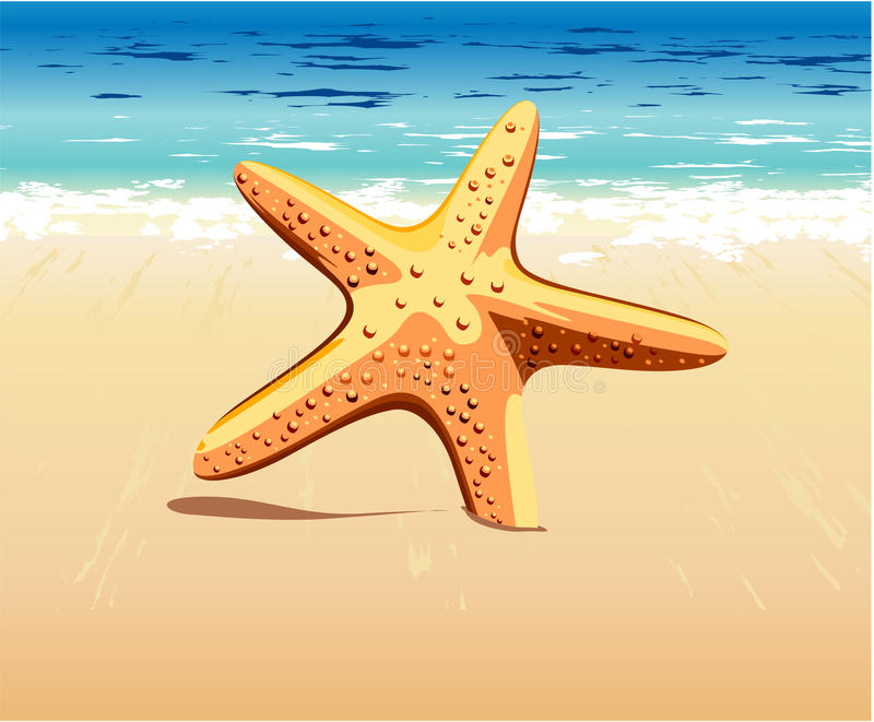 Download Starfish in the sand stock illustration. Illustration of shape - 23202715