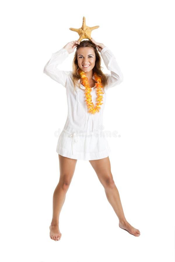 Download Starfish woman stock photo. Image of happy, cheerful - 11814050