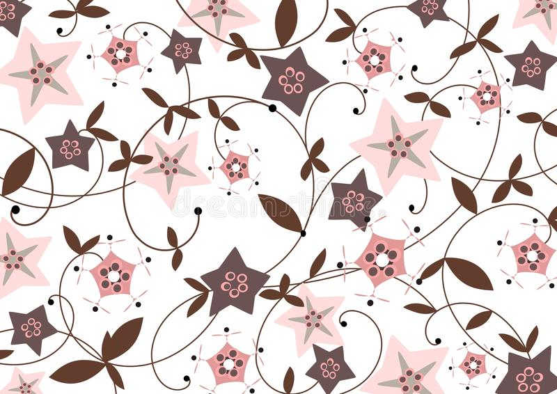 starflower предпосылки иллюстрация вектора