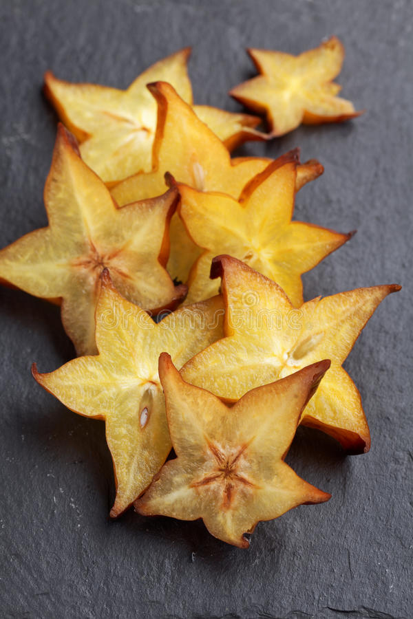 Starfruit cortado imagem de stock royalty free