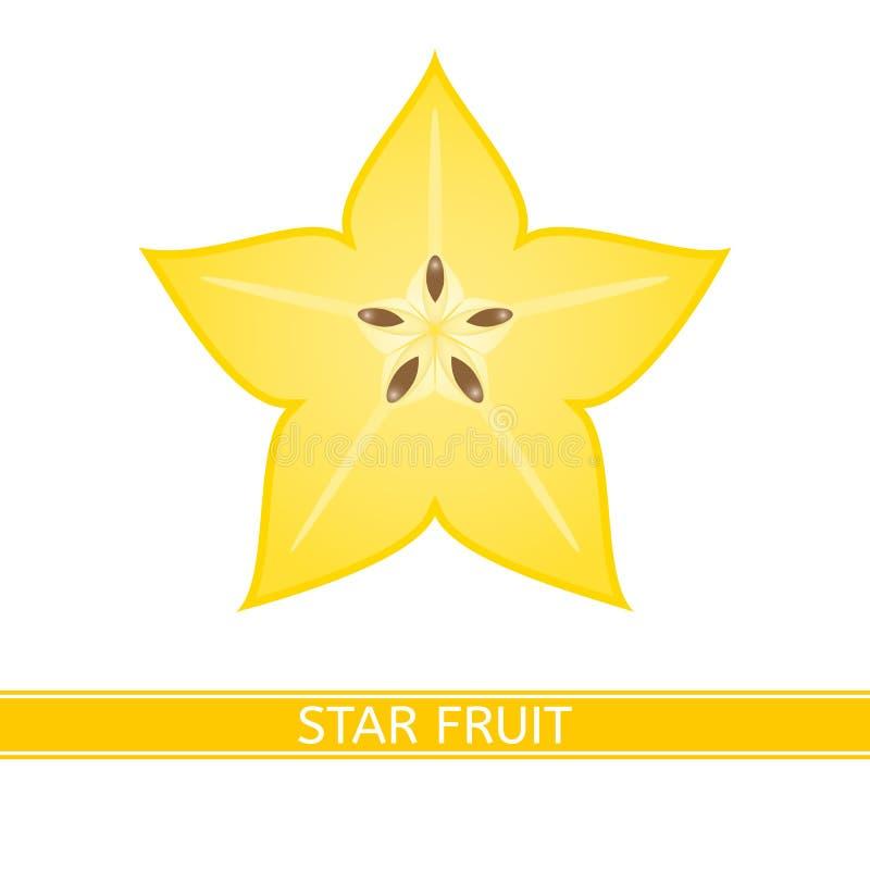 Starfruit die op wit wordt geïsoleerd royalty-vrije stock foto's