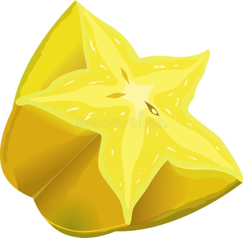 Starfruit icon stock illustration