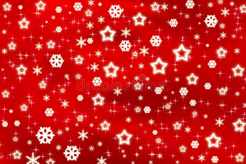 starful背景的圣诞节 库存例证