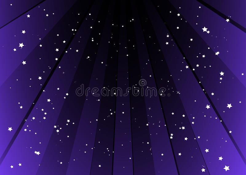 Starful background with purple stripes stock photography