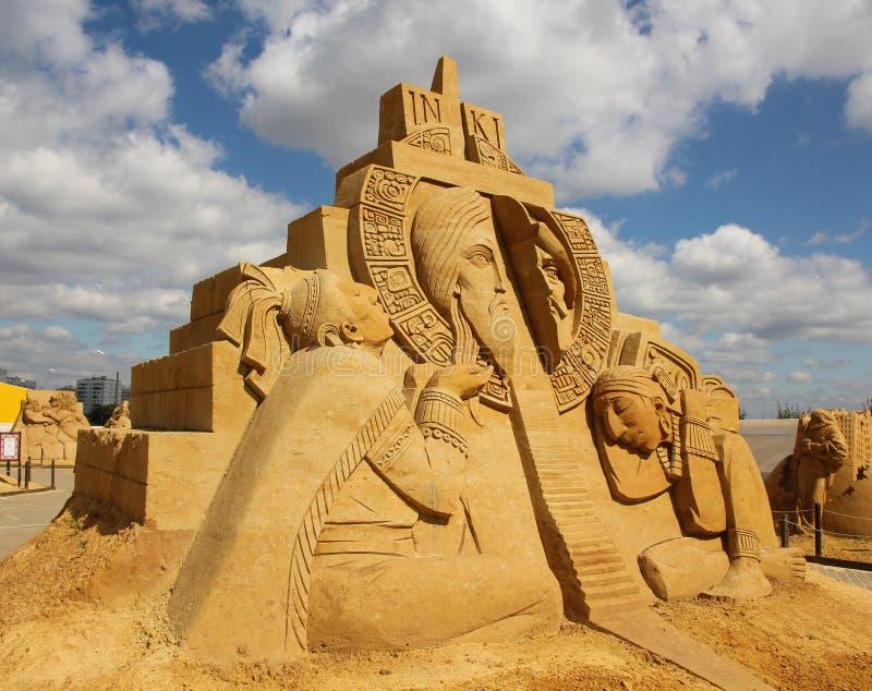 'Stargate' Akhenaten (Amenhotep IV) - Pharaoh Antyczny Egipt zdjęcia royalty free