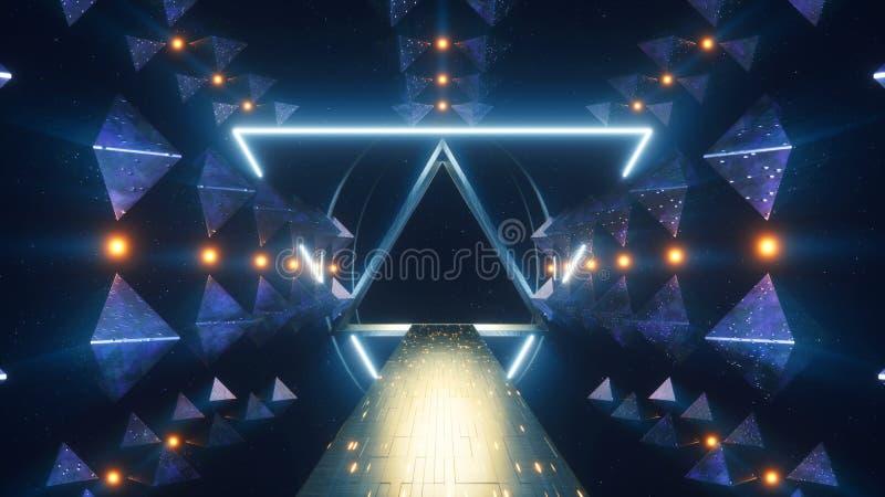 Stargate främmande konstruktion stock illustrationer