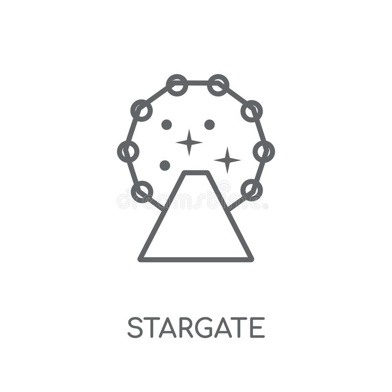 Stargate linear icon. Modern outline Stargate logo concept on wh. Ite background from ASTRONOMY collection. Suitable for use on web apps, mobile apps and print stock illustration