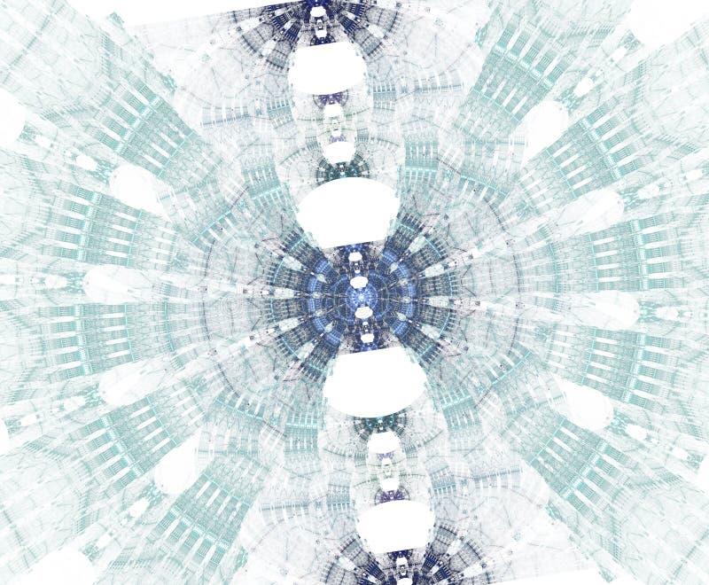 Stargate que brilla intensamente con las partículas en espacio Fondo abstracto del fractal Un fichero grande que muestra muchos d ilustración del vector