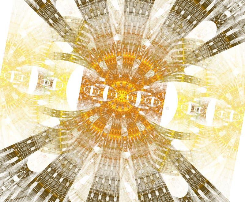Stargate que brilla intensamente con las partículas en espacio Fondo abstracto del fractal Un fichero grande que muestra muchos d libre illustration