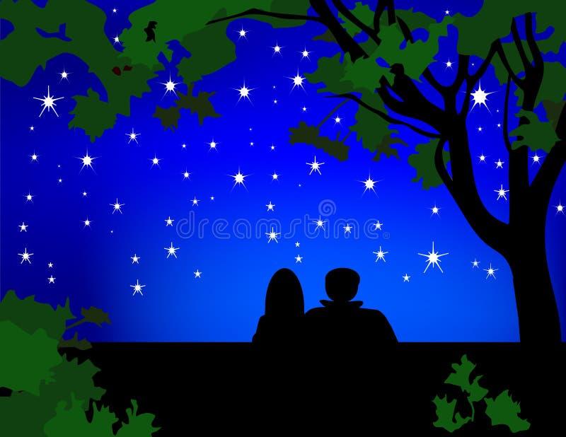 Stargazers illustration libre de droits