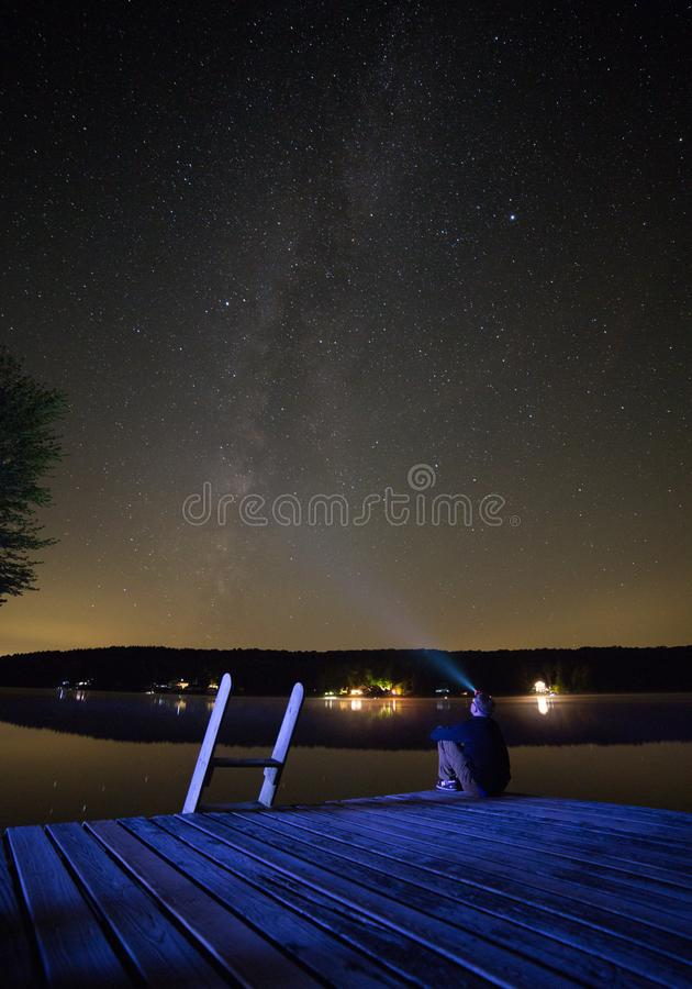 stargazing photo stock