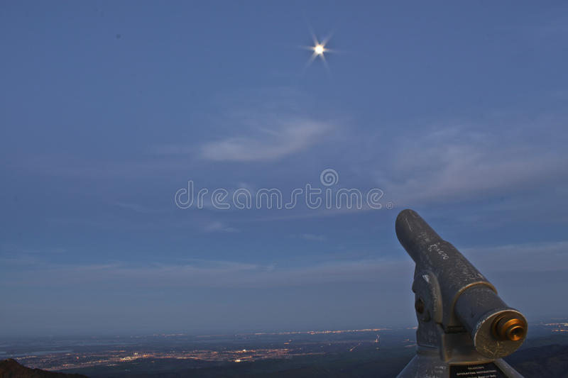 Stargazing stockbild