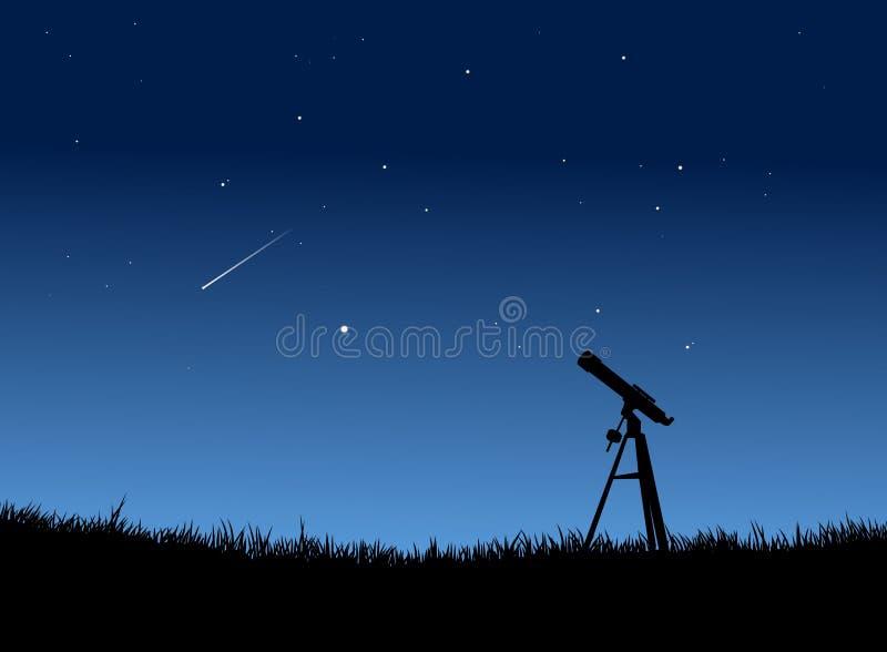 Stargazing illustrazione di stock