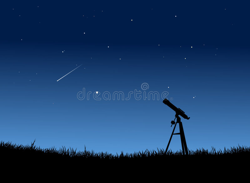 Stargazing illustration stock