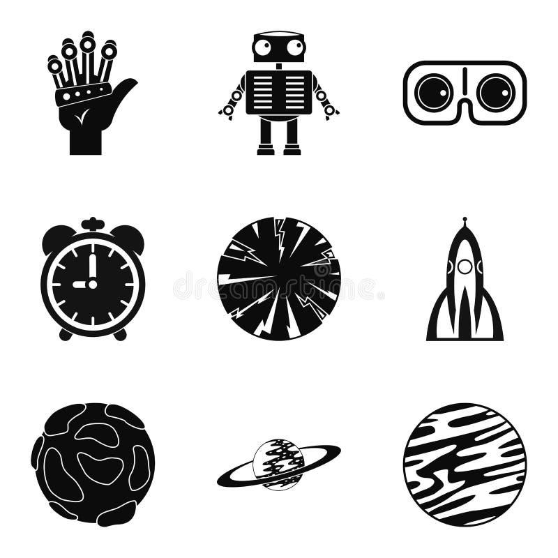 Stargazing ikony ustawiać, prosty styl ilustracji