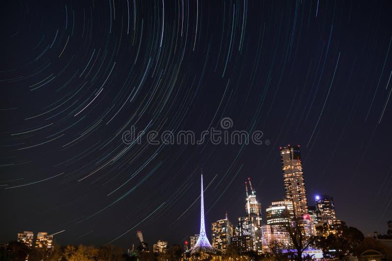 City Under Clear Sky stock photo