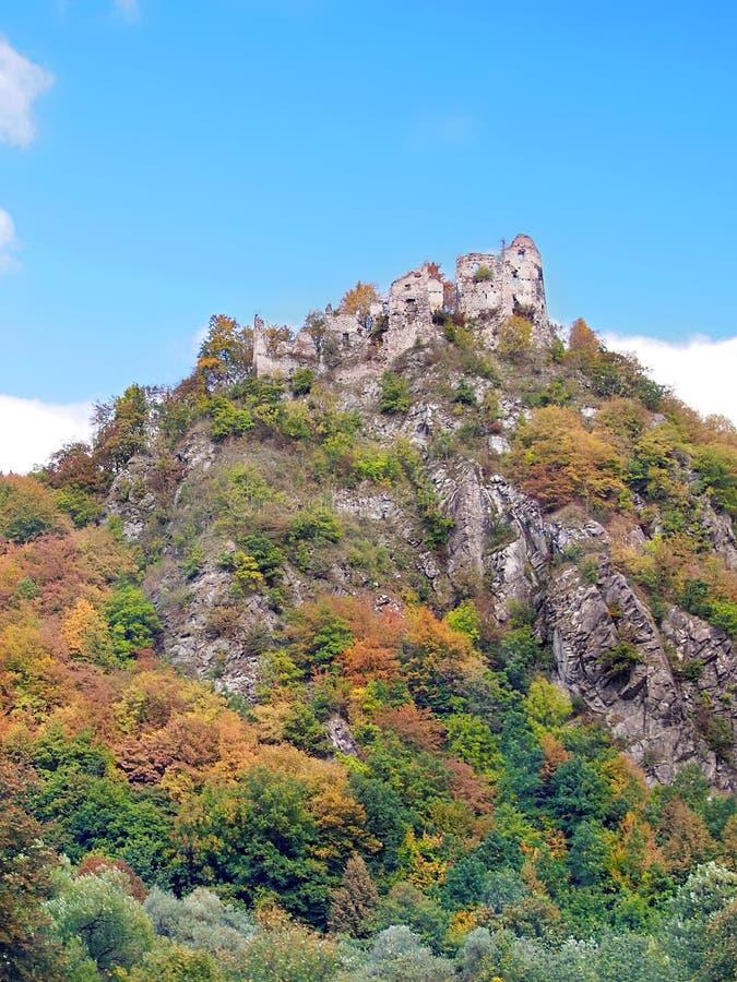 Starhrad Strecno kasztel w jesieni obrazy royalty free
