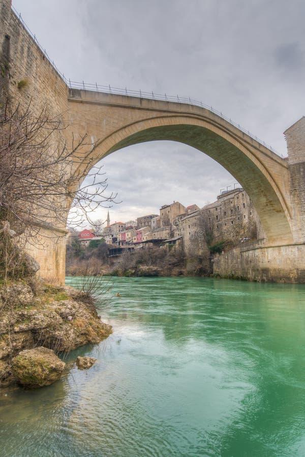 Stari πιό πολύ & x28 Παλαιό Bridge& x29  , Μοστάρ, Βοσνία Hezegovina στοκ εικόνα