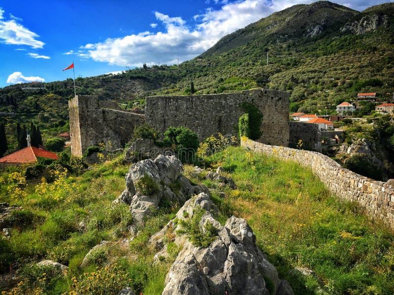 Stari Bar Fortress. Remains of Stari Bar fortress near Bar city in Montenegro royalty free stock photography