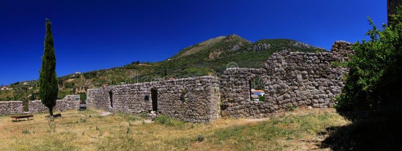Stari Bar Montenegro. Ancient wall in Stari Bar Montenegro, panorama view stock photography