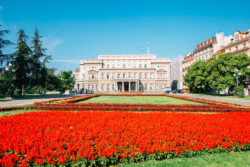 Stari dvor Old Palace City Hall em Belgrado, Sérvia imagens de stock royalty free