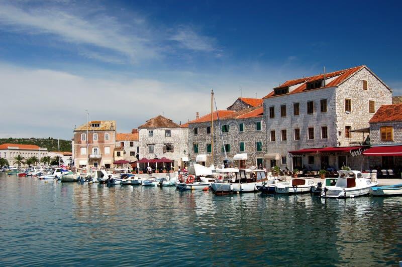 Picturesque view of Stari Grad on Hvar island, Cro. Picturesque view of Stari Grad on Hvar island in Croatia stock images