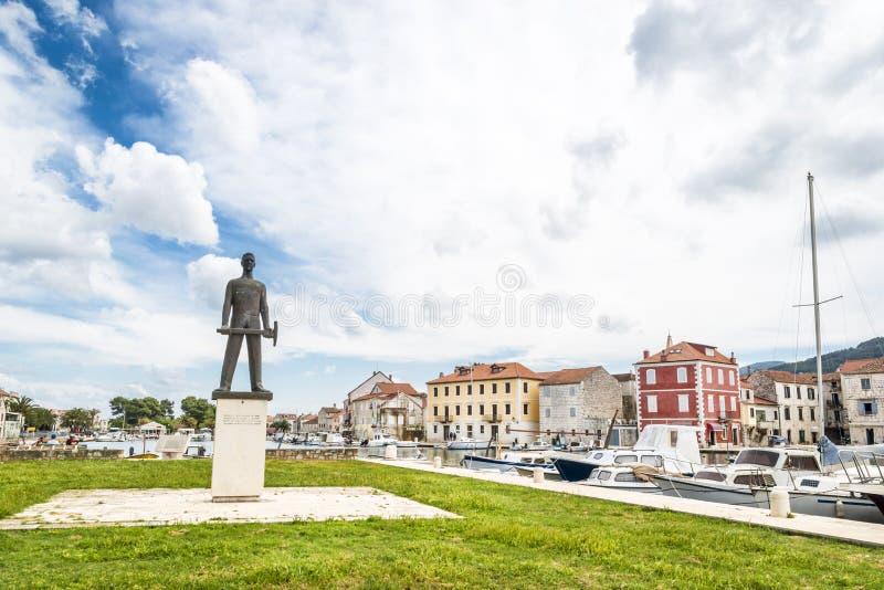 Stari Grad on Hvar island, Croatia. Old street in Stari Grad town on Hvar island. Croatia royalty free stock images