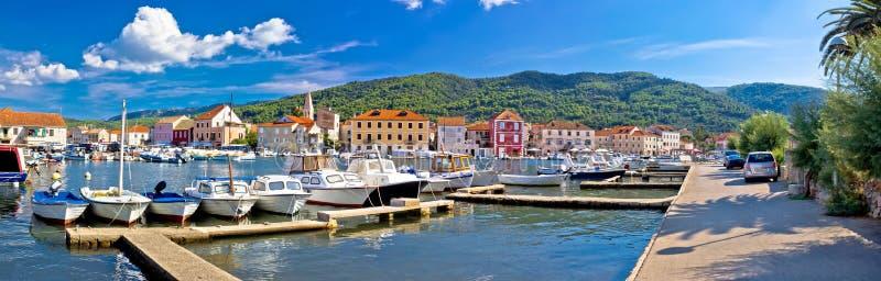 Stari Grad on Hvar island. Panoramic view, Dalmatia, Croatia stock image