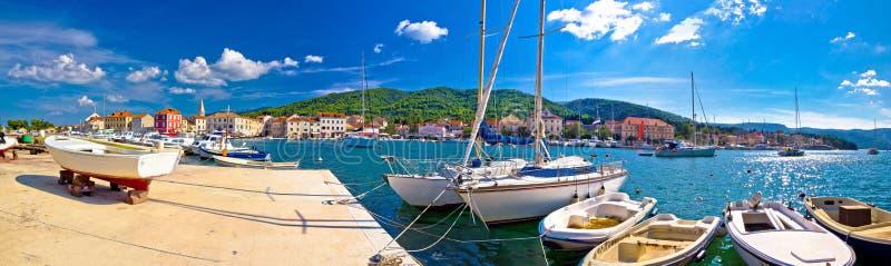 Stari Grad on Hvar island panoramic view. Dalmatia, Croatia stock images
