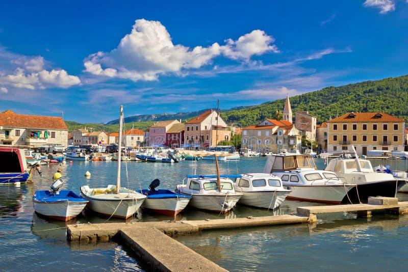 Stari Grad on Hvar island. Waterfront view, Dalmatia, Croatia stock image