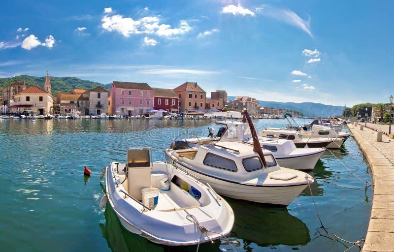 Stari Grad, island of Hvar. Stari Grad waterfront view, island of Hvar, Croatia royalty free stock photo