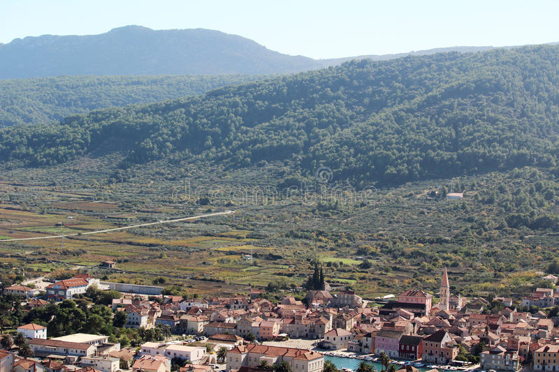 Stari Grad Plain, Croatia. The Stari Grad Plain on the island of Hvar is an agricultural landscape that was set up by the ancient Greek colonists in the 4th royalty free stock photography