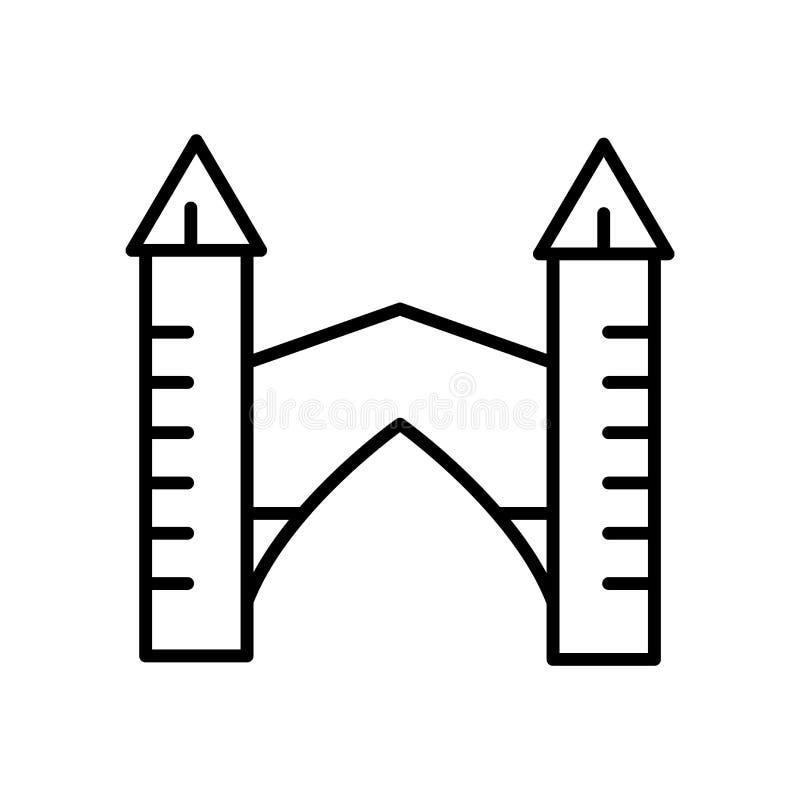 Stari la maggior parte del vettore dell'icona isolato su fondo bianco, Stari la maggior parte di segno, della linea o segno linea illustrazione di stock