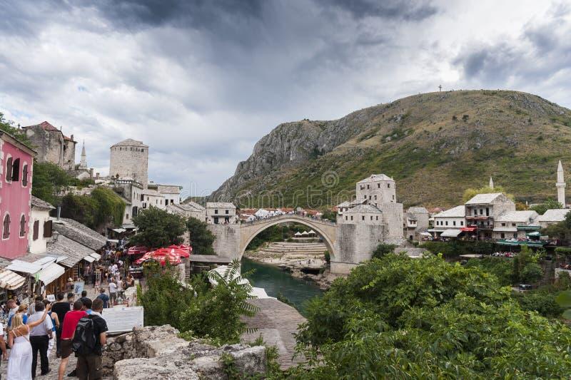Stari a maioria de ` velho da ponte do ` em Mostar imagens de stock royalty free