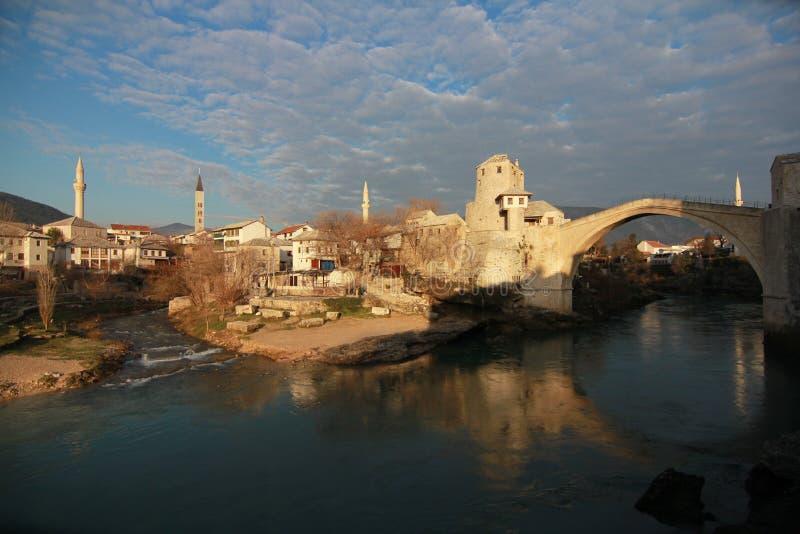 Stari mest av Mostar royaltyfri fotografi