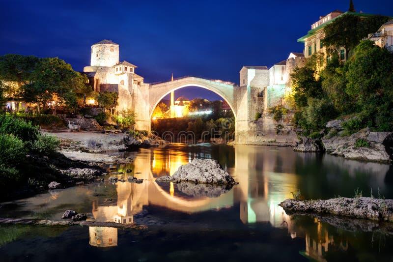 Stari mest, Mostar, Bosnien och Hercegovina arkivbilder