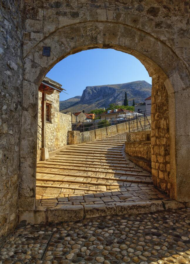 Stari Most, old bridge, Mostar, Bosnia and Herzegovina royalty free stock images