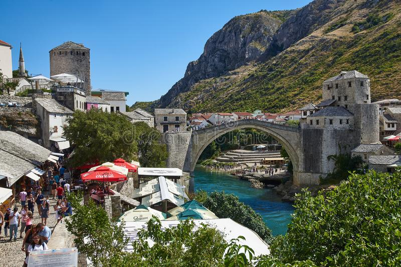Stari Most Old Bridge of Mostar, Bosnia stock photos