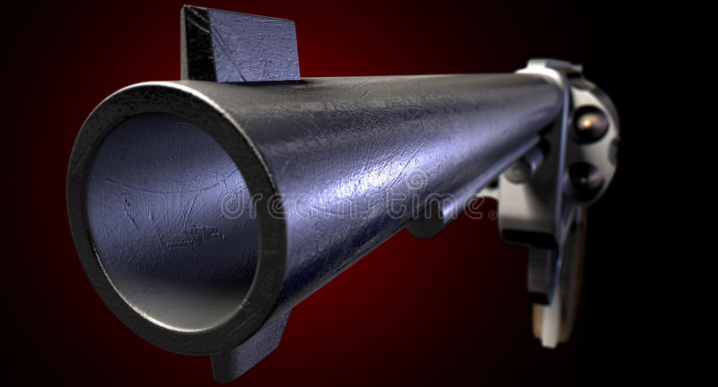 Staring Down The Barrel Of A Gun Stock Image Image Of Standoff Barrel 42494007