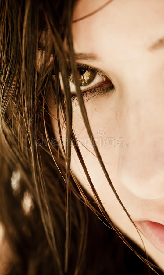 Download Staring eye stock image. Image of beautiful, gothic, distraught - 10201043