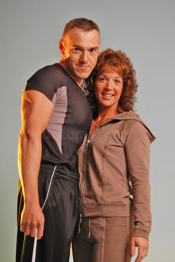 Staring Fitness Couple Stock Photography