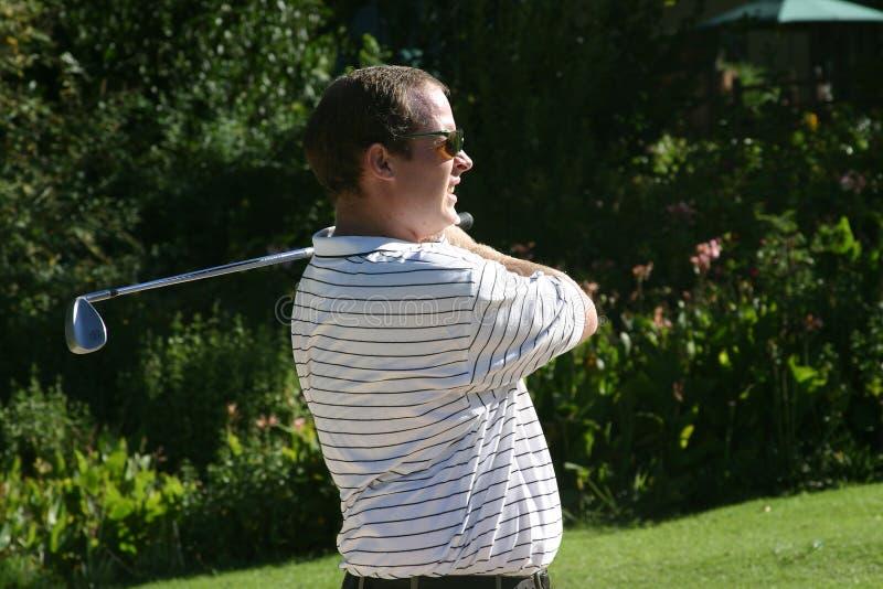Download Staring golfer stock photo. Image of ball, swing, golfer - 103740