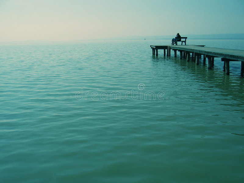 Staring at the sea royalty free stock images