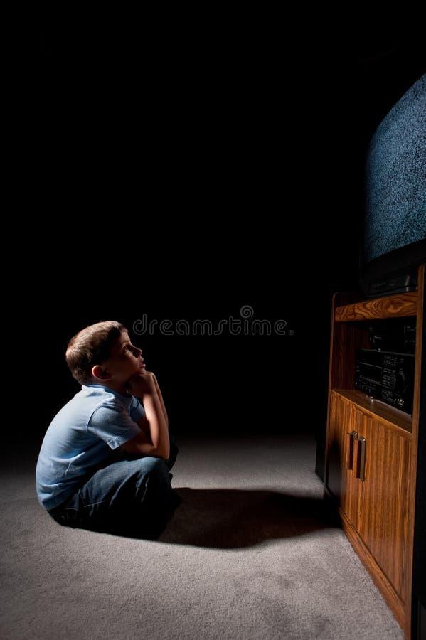 Staring At Television Stock Photos