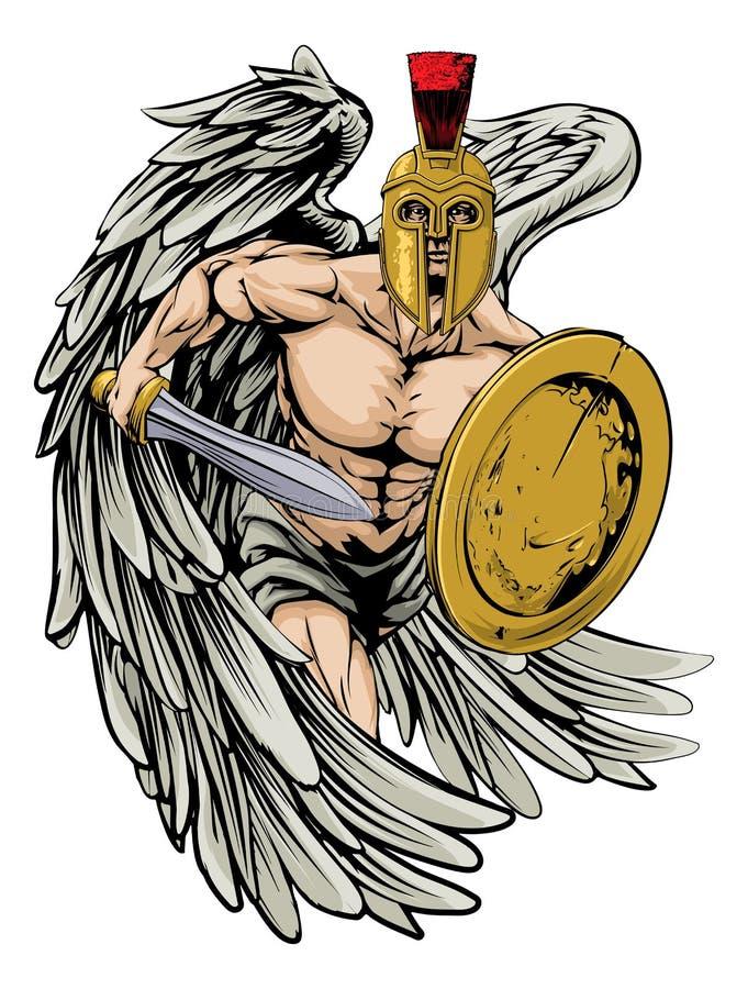 stark ängel stock illustrationer