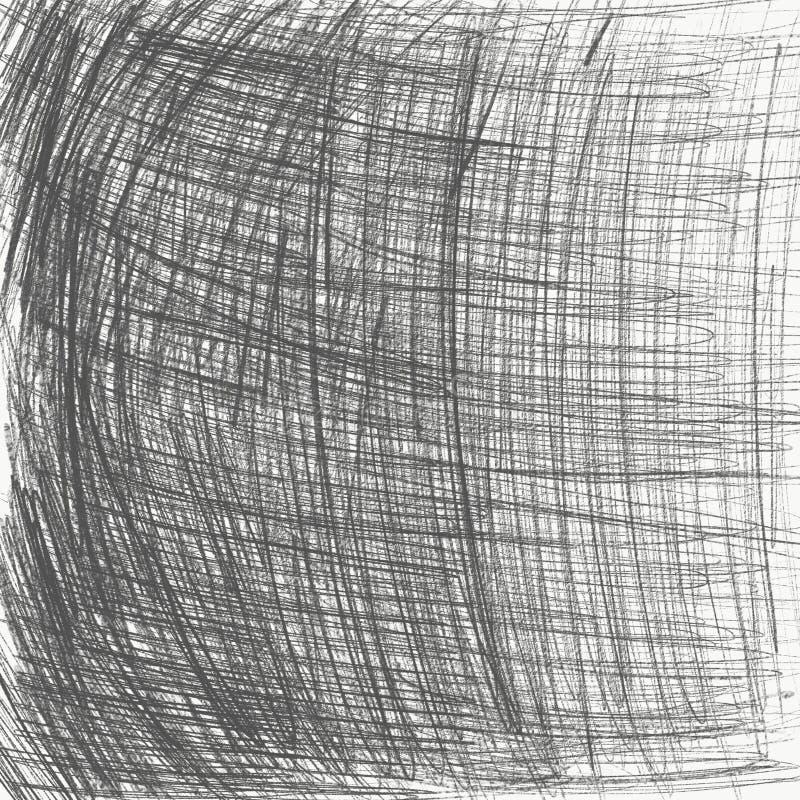 Stark grå blyertspennaslaglängdbakgrund vektor illustrationer