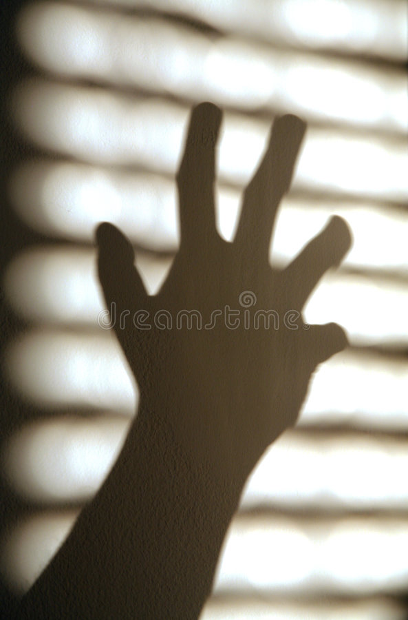 stark handskugga royaltyfri fotografi