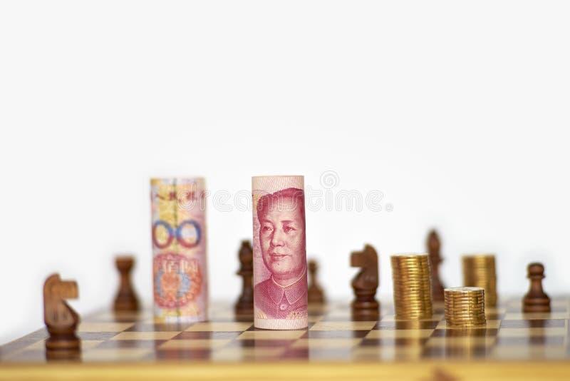 Stark kinesisk yuan royaltyfria bilder