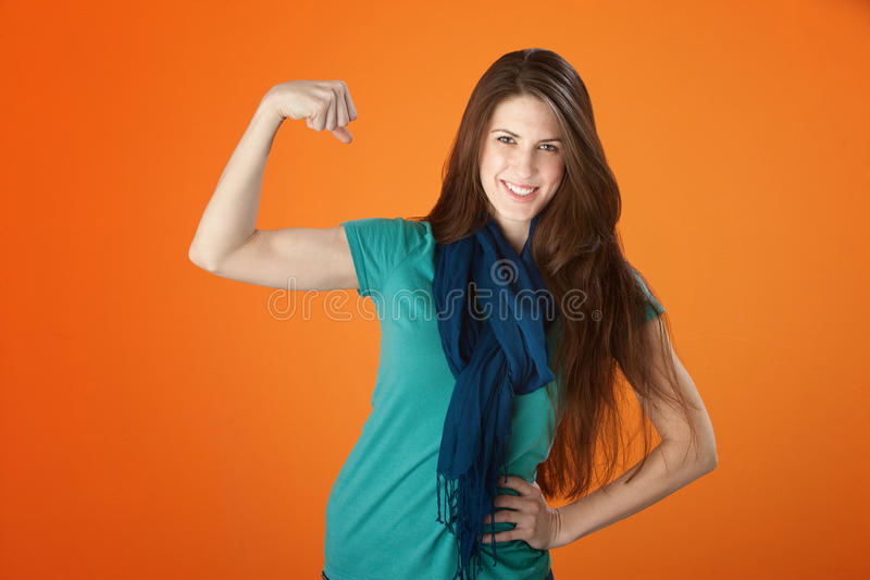 stark kvinna arkivfoton